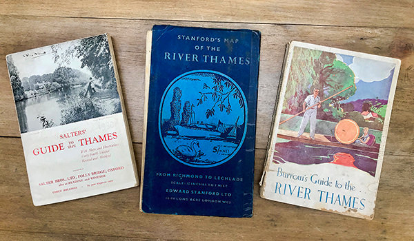 Vintage Thames river guides from Way's rare and secondhand bookshop in Henley