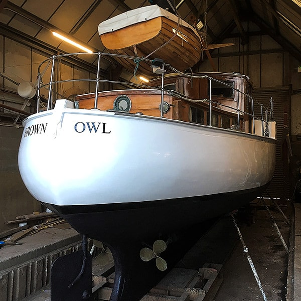 """Brown Owl"" getting a paint job."