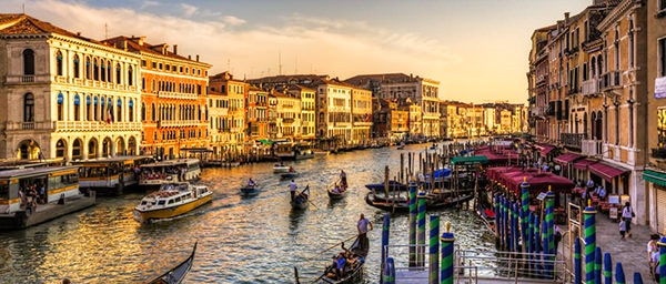 The Grand Canal - the most important waterway in Venice