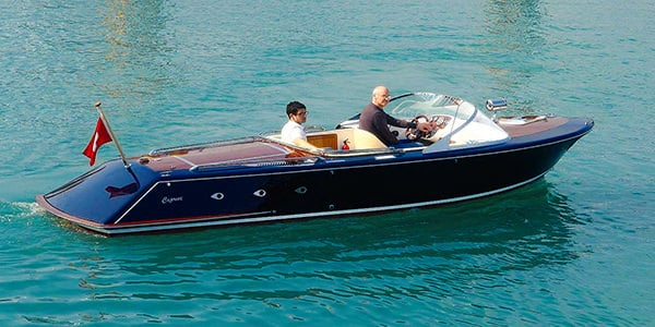 A Caprice Classic electric sports boat (built and designed in the UK) - for sale through HSC.