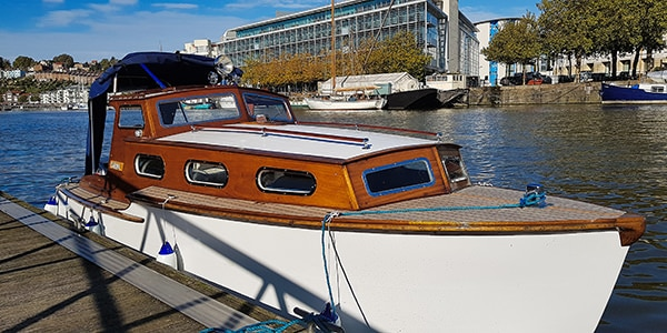 """""""Carina"""" - an early 1950s 20 footer - is new on our books."""