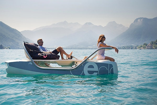 The Ceclo is electrically powered, silent and environmentally friendly. Perfect for exploring open water and sailing in style.
