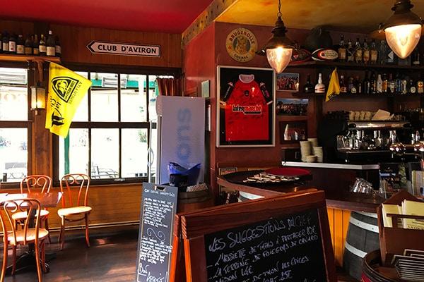 """The local pub """"Club d'Aviron"""""""