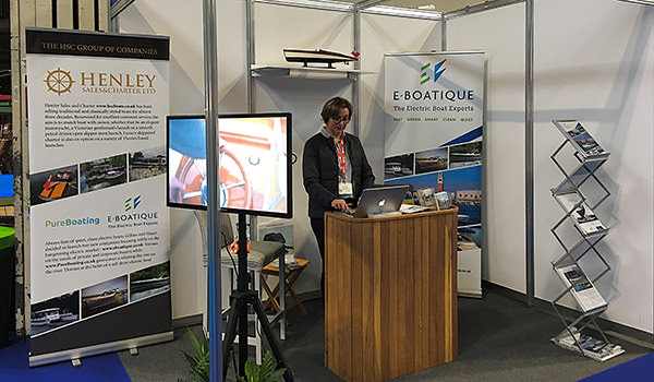 Gail manning the HSC/E-Boatique stand at the NEC in Birmingham