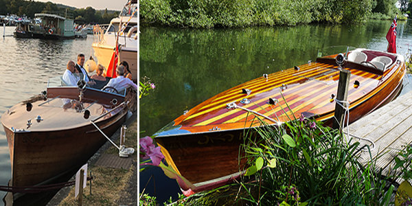 """""""Rio"""" (right) and """"Golden Hind"""" entertaining guests (left)"""