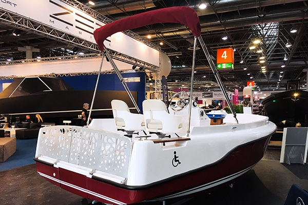 The Legend is an electric boat that accommodates wheelchair users