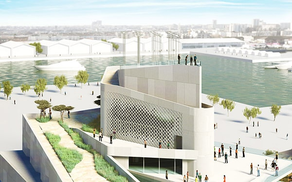 A rendering of what the Bordeaux Musée Mer Marine will look like when the renovations are completed.
