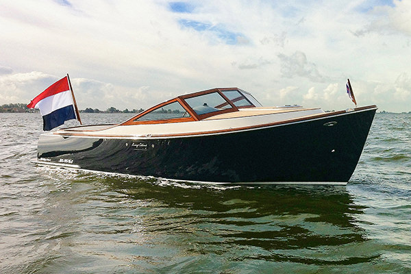 The 25 Runabout by Long Island Yachts.