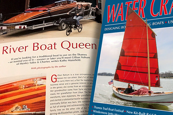 "The ""River Boat Queen' article in the July/August 2019 issue of Water Craft magazine."