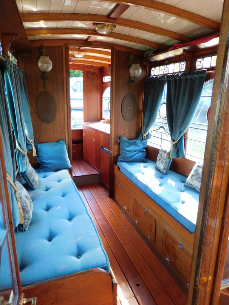Looking aft to the galley