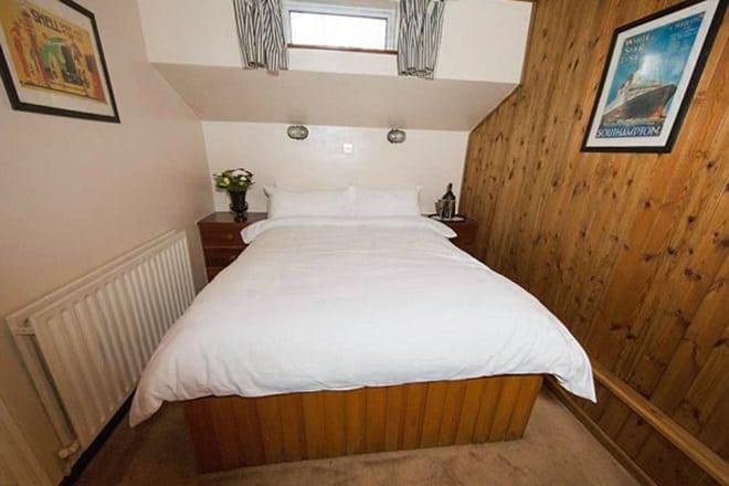 """The honeymoon suite cabin on the """"African Queen"""""""