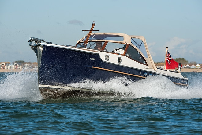 """Baloo"" rides the waves in the Solent last week."