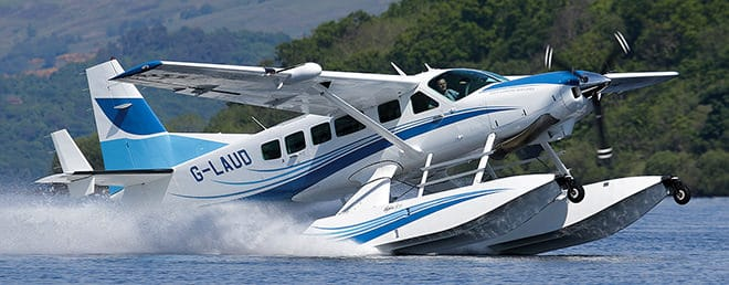 "Arriving in this Cessna 208 seaplane (named: ""The Spirit of Laudale"") is an unforgettable way to begin your stay at Laudale House."