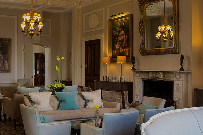 The lounge at the Storrs Hall Hotel.