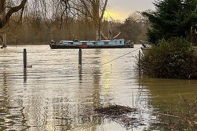 Last week's flooding of the River Thames.
