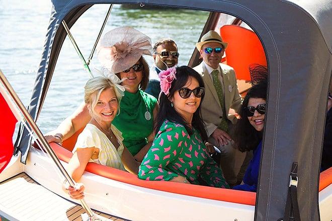 A lovely group of friends enjoying the festivities in true HRR fashion.