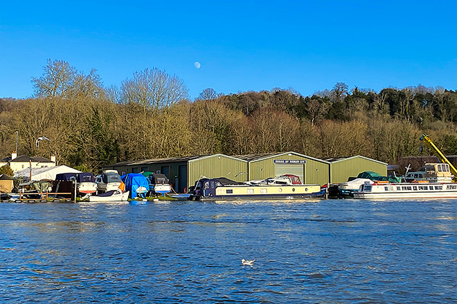 The Wargrave road - Hobbs boatyard buildings and facilities