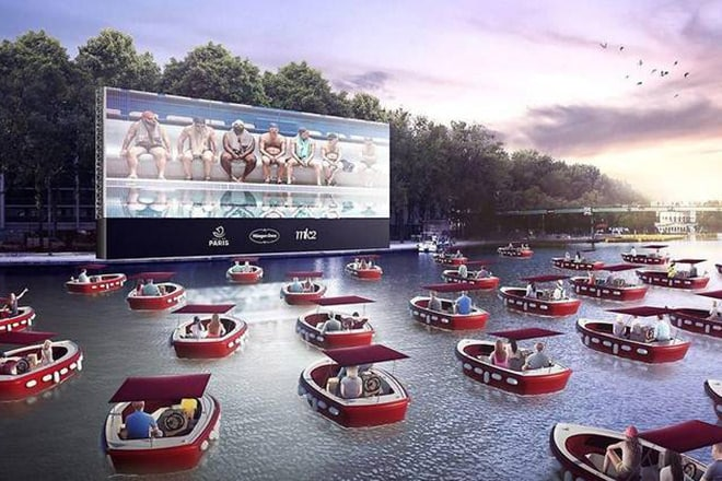 A photomontage of what enjoying an event from the water could look like.