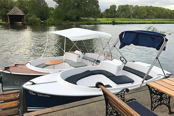 Scoops at PureBoating in Wallingford ready to be taken out for a drive.