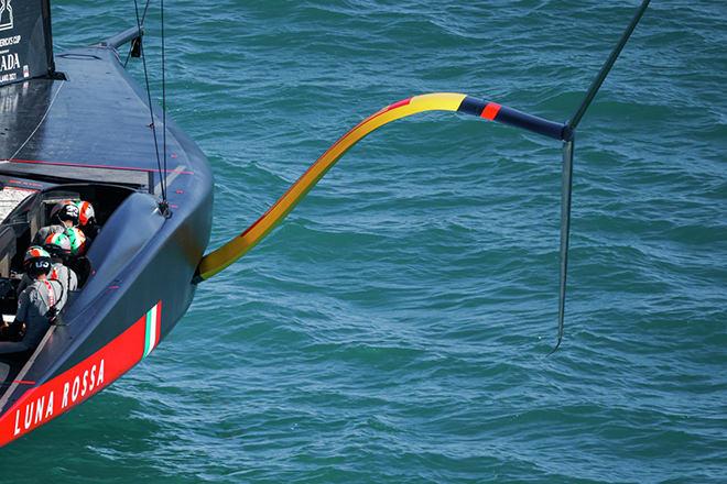 Luna Rossa Prada Pirelli - catamaran with a wing design sail.