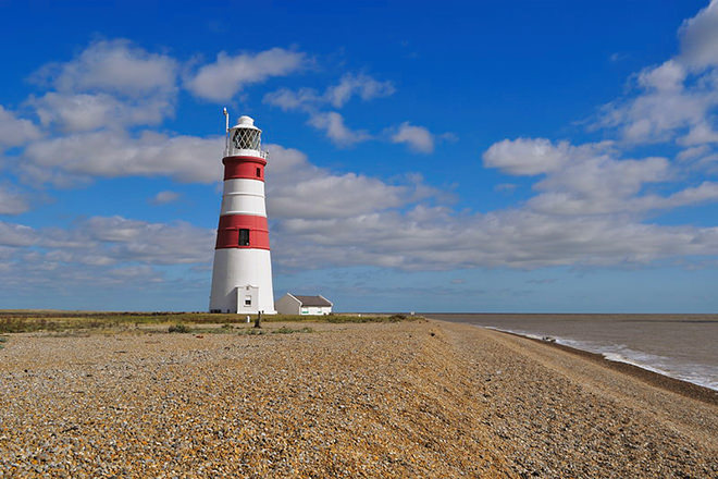 The Orford Ness lighthouse
