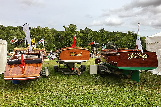 Here we are at the 2019 Thames Traditional Boat Festival on our usual spot upstream from the little bridge.