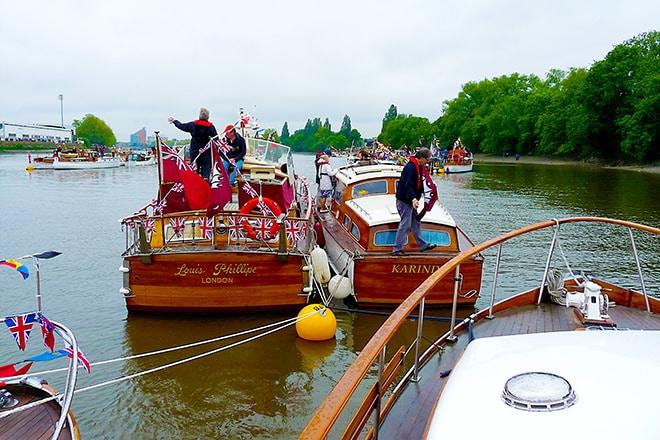 Onboard 'New Venture' to celebrate The Queen's Diamond Jubilee back in 2012.