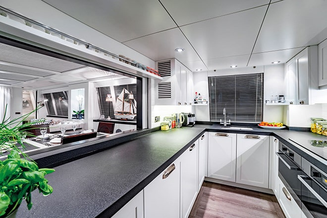 Savvy's' superbly appointed galley