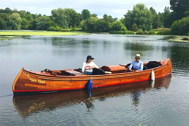 'Water Witch' - an elegant and spacious motorised canoe