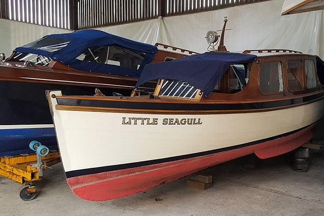 'Little Seagull' before her upgrade