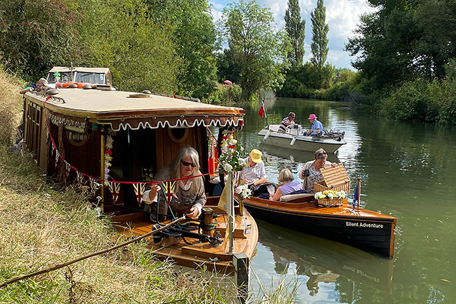 A snapshot from the Electric Boat Association's e-boat Decathlon in Lechlade earlier this month.