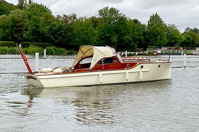 'Neptune' at the 2021 Thames Traditional Boat Festival