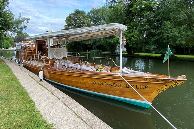 The stunning 'Windsor Belle' is now for sale through Henley Sales & Charter.